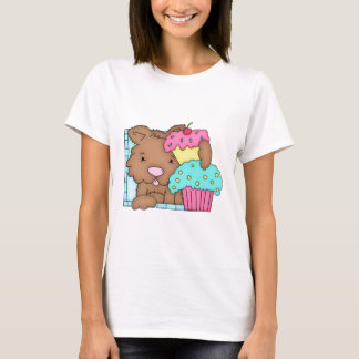 Puppy Dog with Cupcake Birthday Design 5 T-Shirt