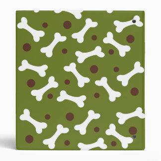 Puppy Doggie in Green Vinyl Binder