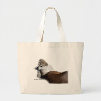 Puppy Dogs tail Large Tote Bag
