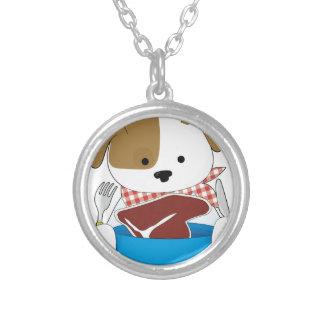 Puppy Eating Steak Custom Jewelry