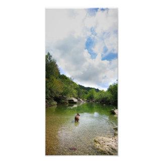 Puppy Exploring Barton Creek - Austin Texas Photo Print