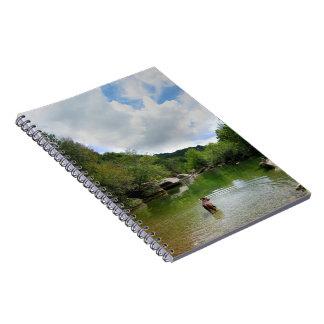 Puppy Exploring Barton Creek - Austin Texas Spiral Notebook