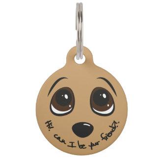 Puppy Eyes Pet ID Tag
