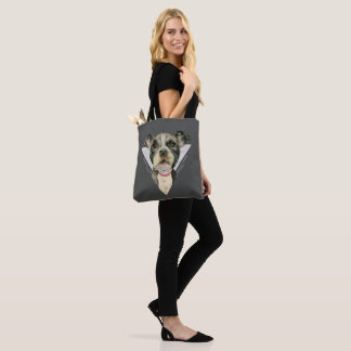 """""""Puppy Eyes"""" Pit Bull Dog Watercolor Painting 2 Tote Bag"""