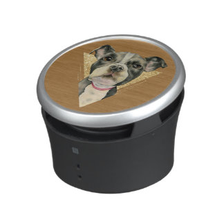 """Puppy Eyes"" Pit Bull Dog Watercolor Painting 3 Bluetooth Speaker"