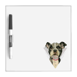 """""""Puppy Eyes"""" Pit Bull Watercolor Painting 2 Dry-Erase Board"""