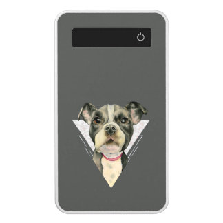 """""""Puppy Eyes"""" Pit Bull Watercolor Painting 2 Power Bank"""
