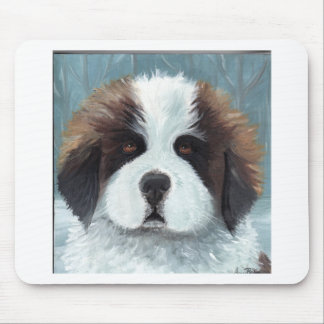 PUPPY EYES SAINT MOUSE PAD