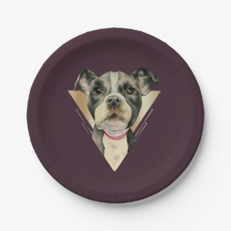 Puppy Eyes Watercolor Painting 4 Paper Plate