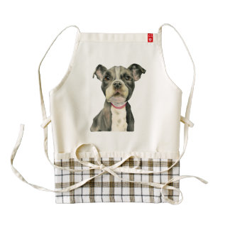 Puppy Eyes Watercolor Painting Zazzle HEART Apron