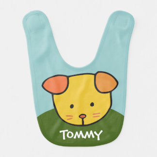Puppy Face - Personalized Baby Bib