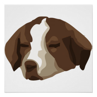 Puppy face poster