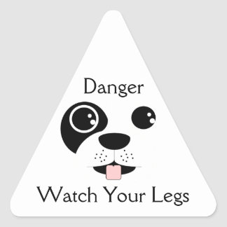 Puppy Face Triangle Sticker