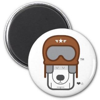 puppy fly 2 inch round magnet
