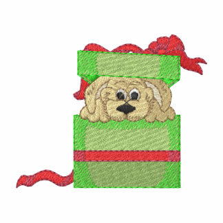 Puppy For Christmas Embroidered Shirt