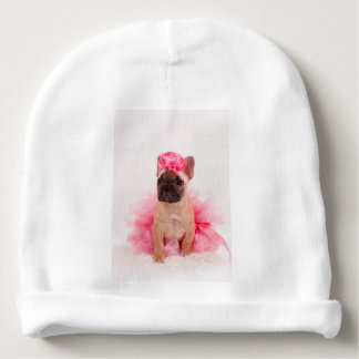 Puppy french bulldog disguised baby beanie