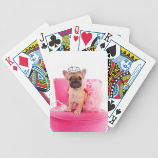 Puppy french bulldog disguised bicycle playing cards