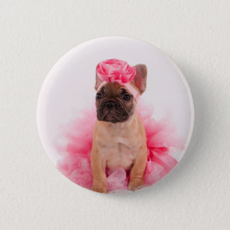 Puppy french bulldog disguised button