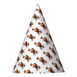 Puppy french bulldog in has pram party hat