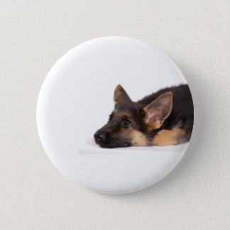 puppy german sheperd pinback button