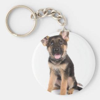 puppy German shepherd Basic Round Button Keychain