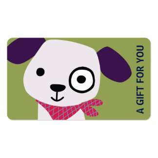 Puppy Gift Card, Gift Certificate, D7-052115 Double-Sided Standard Business Cards (Pack Of 100)