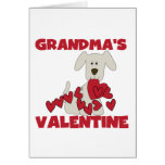 Puppy Grandma's Valentine T-shirts and Gifts Greeting Card