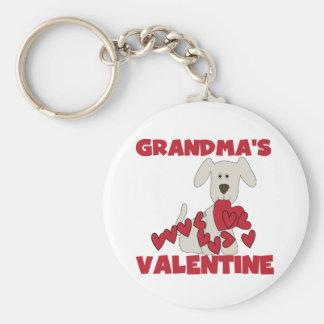 Puppy Grandma's Valentine T-shirts and Gifts Basic Round Button Keychain