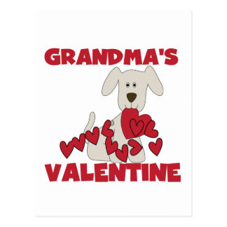Puppy Grandma's Valentine T-shirts and Gifts Postcard