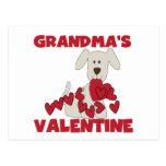 Puppy Grandma's Valentine T-shirts and Gifts Postcard