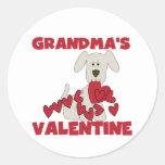 Puppy Grandma's Valentine T-shirts and Gifts Classic Round Sticker