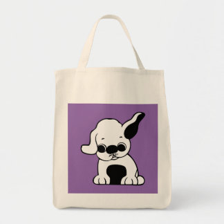 Puppy Grocery Tote Bag