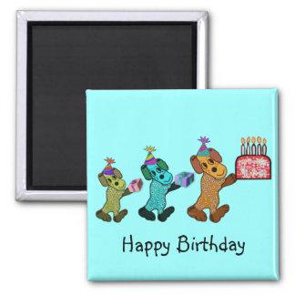 Puppy Happy Birthday Magnet