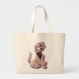 PUPPY HEARTS by SHARON SHARPE Large Tote Bag