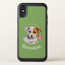 Puppy Holding Lotus Flower with Faux Gold Ring Speck iPhone X Case