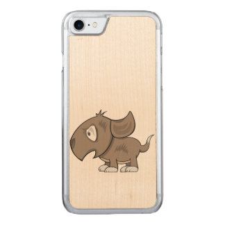 Puppy Illustration Carved iPhone 8/7 Case