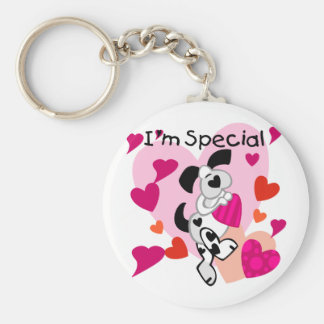Puppy I'm Special Valentine T-shirts and Gifts Basic Round Button Keychain