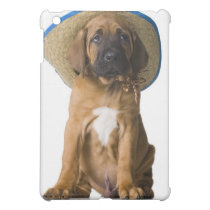 puppy in a cowboy hat cover for the iPad mini