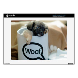 Puppy in a Cup Woof Dog Brown Pet Acer Chromebook Skins