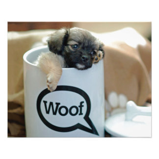 """Puppy in a Cup Woof Dog Brown Pet 4.5"""" X 5.6"""" Flyer"""