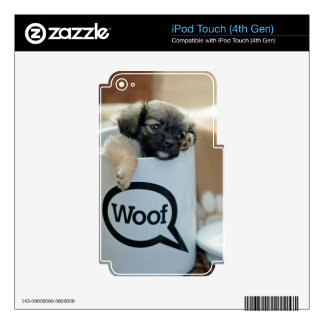 Puppy in a Cup Woof Dog Brown Pet iPod Touch 4G Skins