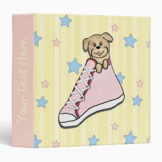 Puppy in a Pink Shoe Scrapbook Binder
