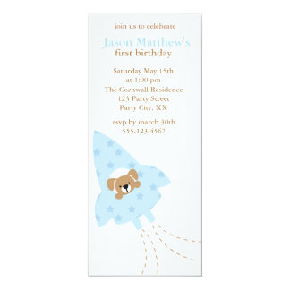Puppy in a Rocket birthday party invitations