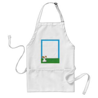 Puppy in Grass Adult Apron