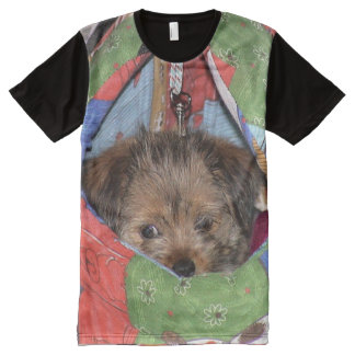 Puppy in pouch All-Over-Print T-Shirt