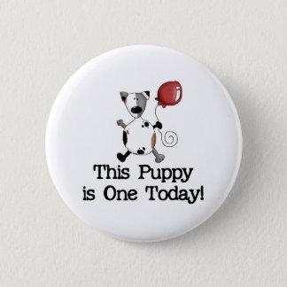 Puppy is One Birthday Pinback Button