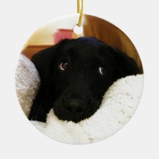 puppy.JPG inocente Adorno Redondo De Cerámica
