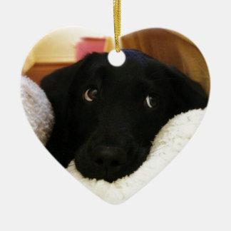 puppy.JPG inocente Adorno De Cerámica En Forma De Corazón