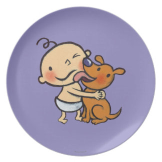Puppy Kisses for the Baby Melamine Plate