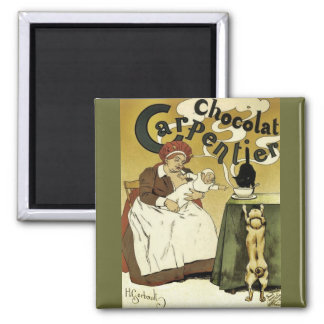 Puppy, Kitty and Hot Chocolate Magnet